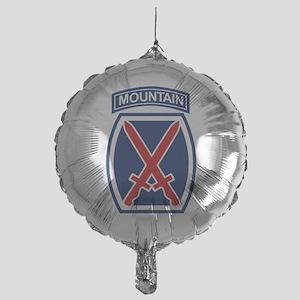 10th Mountain Division Mylar Balloon