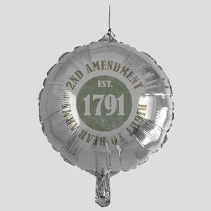 2nd Amendment Est. 1791 Mylar Balloon