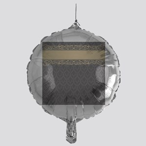 Golden Stripe Vintage Damask Mylar Balloon