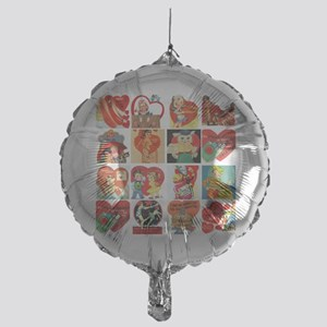 vintage valentines day cards feb Mylar Balloon