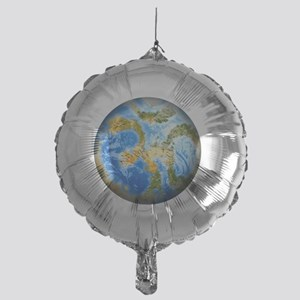 one people . one planet . one home Mylar Balloon