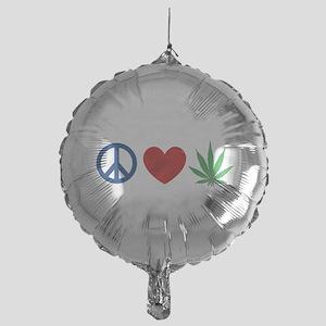 Peace Love Weed Balloon