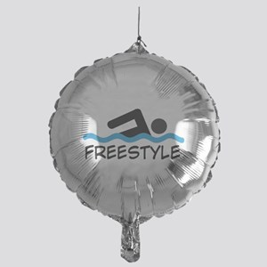 Freestyle Swimming Mylar Balloon