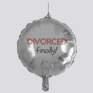 2-divorced01 Mylar Balloon