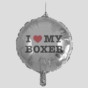 I Heart My Boxer Mylar Balloon