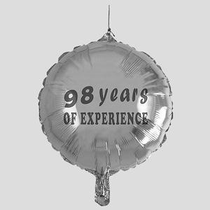 98 years birthday designs Mylar Balloon