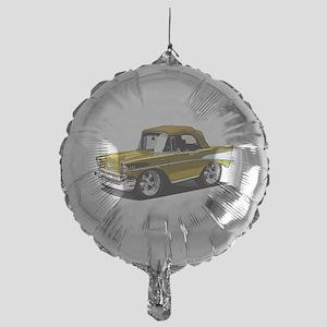 BabyAmericanMuscleCar_57BelR_Gold Balloon