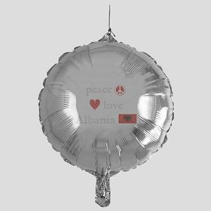 PeaceLoveAlbania Mylar Balloon