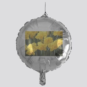 Daffodil flowers in bloom in garden Mylar Balloon