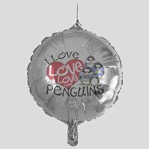 ILovePenguins2 Mylar Balloon