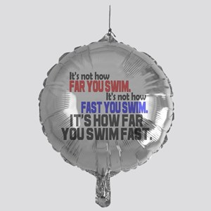 Swim Fast Mylar Balloon