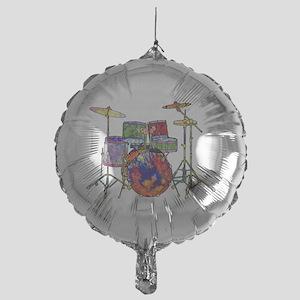 Wild Drums Mylar Balloon