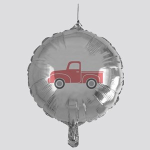 Vintage Red Truck Mylar Balloon