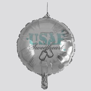 usaf teal Mylar Balloon