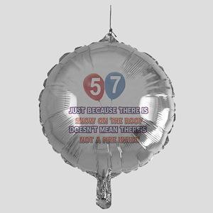 57 year old designs Mylar Balloon