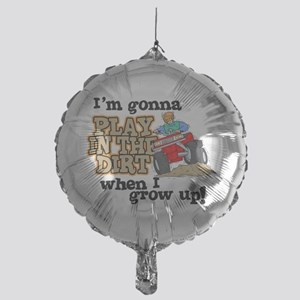 Play In The Dirt Mylar Balloon