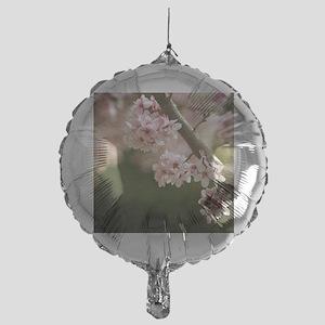 cherry blossom flowers Mylar Balloon