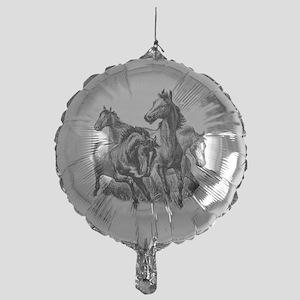 4 Horse Illustration Mylar Balloon
