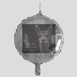Alpaca with funny hairstyle Mylar Balloon