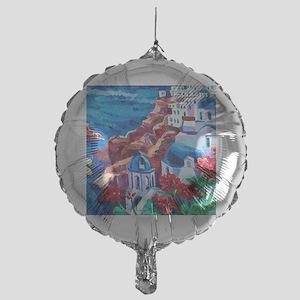Greek Oil Painting Mylar Balloon