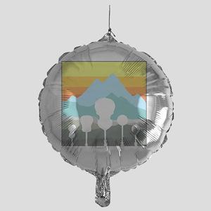 mountain music color transparent Mylar Balloon
