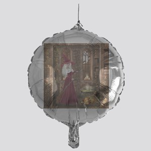 Witch with Candle Mylar Balloon