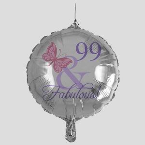 Fabulous 99th Birthday Mylar Balloon