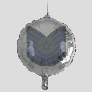 USAF-MSgt-Old-Green Mylar Balloon