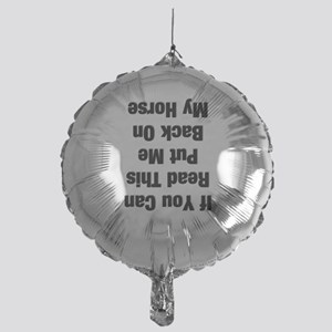If you can read this...(black Mylar Balloon