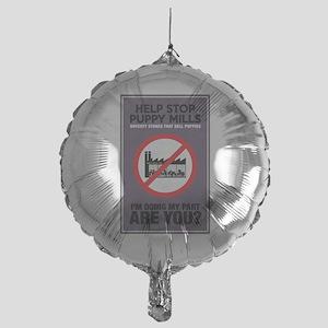 Stop Puppy Mills Mylar Balloon