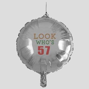 Look Who's 57 Mylar Balloon