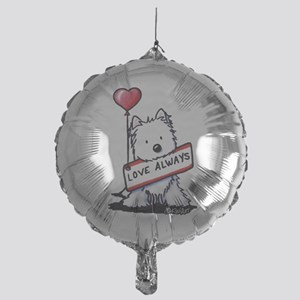 Love Always Westie Mylar Balloon
