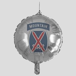 10th Mountain Mylar Balloon