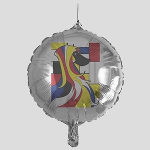 Geometric Afghan Hound Abstract Balloon