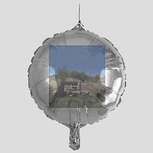 57 Ford fairlane - train bridge - Sm Mylar Balloon