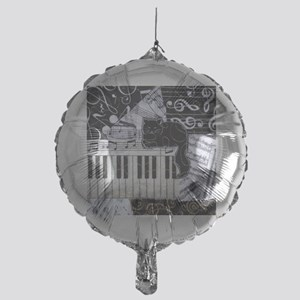 keyboard-sitting-cat-ornament Mylar Balloon
