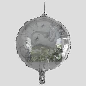 In the Garden - Quan Yin Flowers Mylar Balloon