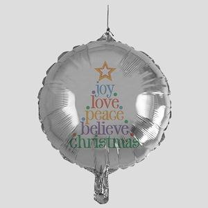 Joy Love Christmas Mylar Balloon