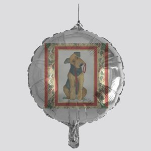 Airedale Terrier Christmas Mylar Balloon