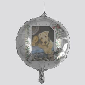 Airedale Terrier Dog Christmas Mylar Balloon
