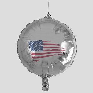Tattered US Flag Mylar Balloon
