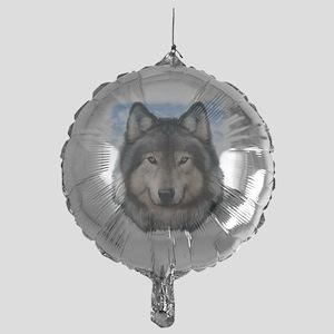Wolf Head 2 Mylar Balloon
