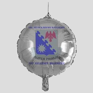 1-1ST AVIATION RGT WITH TEXT Mylar Balloon