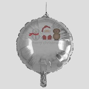 Merry Christmas Characters Mylar Balloon