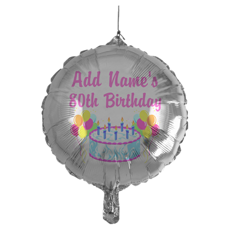 HAPPY 80TH BIRTHDAY Mylar Balloon