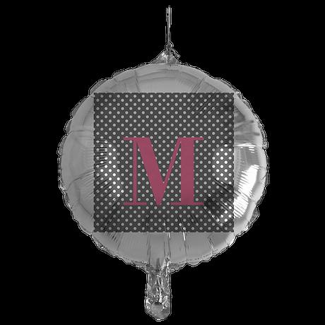 Personalizable White and Black Polka Dot Balloon
