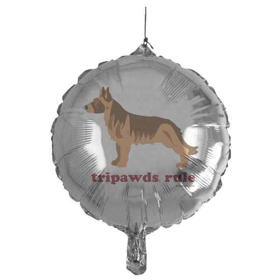 Tripawds Rule Three Legged GSD White BKG