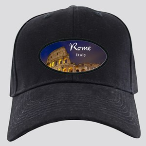 Rome Black Cap with Patch