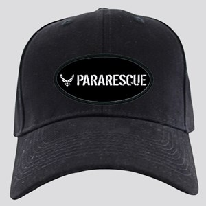 USAF: Pararescue Black Cap with Patch