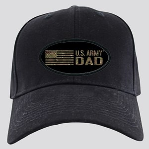 U.S. Army Dad: Camouflage Black Cap with Patch